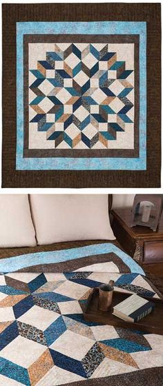 Keepsakequilting Rippling Star Bed Quilt Kit