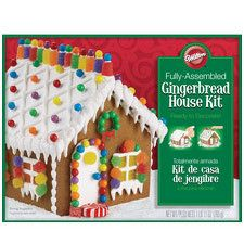 Gingerbread House kit that is Fully assembled by Wilton 2104-1904