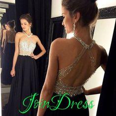 188 USD.Beaded Prom Dress,Sleeveless Prom Dress,A-line Evening Dress,Prom Dresses 2017