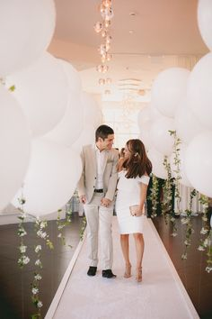 you can see this entire DIY balloon garland engagement party by checking out all Yuli Tovich's images in the full gallery Balloon Garland, Balloons, Engagement Decorations, Vendor Events, Event Planning Design, Birthday Weekend, Engagement Shoots, Wedding Things, Wedding Stuff