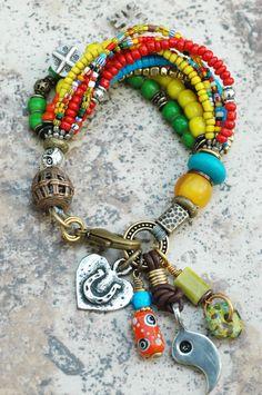 My Awesome Colorful Yin-Yang Bracelet: Get your own Custom Multi-Strand Bracelet