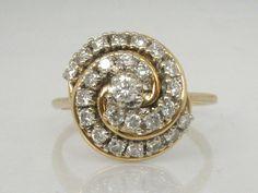 Vintage Diamond Cocktail Ring  0.55 Carats by lonestarestates, $750.00
