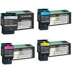 NEW!! Lexmark Remanufactured Printer Cartridges for C540n-C543dn-C544dn-C544dtn-C544dw-C544n Colour Laser Printers