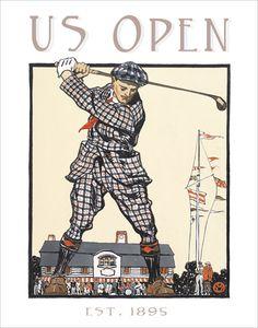 Golf poster - US Open Vintage print -  11x14 golf print. $17.50, via Etsy.