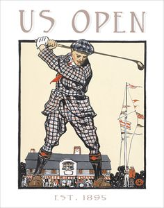Golf poster US Open Vintage Print by aswegoArts, via Etsy.