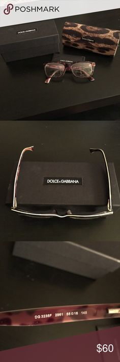 Dolce and Gabbana tortoise glasses Prescription glasses. Tortoise shell with a green edging. Comes with original box, case and paperwork Dolce & Gabbana Accessories Glasses