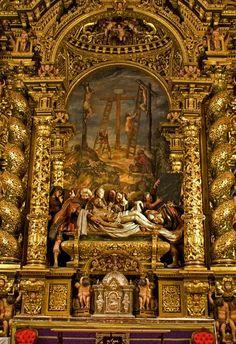 Altar mayor, Santo Entierro, retablo Iglesia de la Caridad de Pedro Roldán, foco: Sevilla.