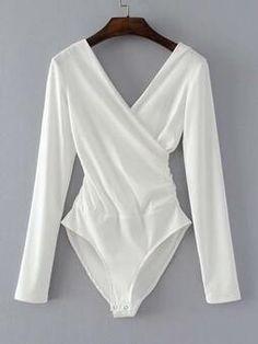 Mens Bodysuit, V Neck Bodysuit, Ribbed Bodysuit, White Bodysuit, Long Sleeve Bodysuit, Backless Jumpsuit, White V Necks, Work Fashion, Jeans Fashion