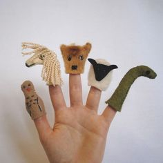 Scottish Highlands Finger Puppets. Oh, how I need to make these for my neighbor's son!!