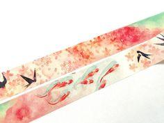 Sakura and koi washi tape