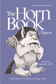 "November/December 2003 Horn Book Magazine Special Issue: Sendak at 75; cover art ""Self-Portrait"" by Marice Sendak"