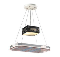 Make hockey a focal point of your decor with the Elk Lighting Novelty 5138 LED 2 Light Hockey Rink Pendant . This hockey-inspired pendant light features. Pool Table Lighting, Kids Lighting, Elk Lighting, House Lighting, Unique Lighting, Bedroom Lighting, Lighting Ideas, White Pendant Light, Pendant Light Fixtures