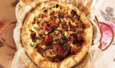 Deliciosa paparoca: Quiche de espinafres com bacon crocante