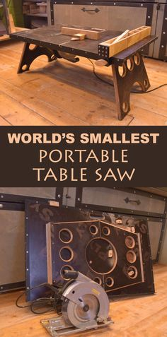 Super convenient, small and portable table saw build.