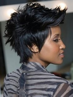 Faux Hawk Spiky Pixie Style- I would probably never cut my hair that short but its cute!