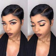 Diferente corte de cabelo curto ideias para mulheres negras - http://bompenteados.com/2017/11/24/diferente-corte-de-cabelo-curto-ideias-para-mulheres-negras
