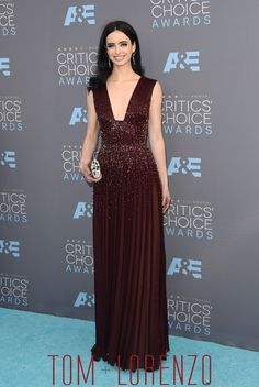 Krysten Ritter, in Zuhair Murad Couture, attends the 21st Annual Critics' Choice Awards in Santa Monica, CA.