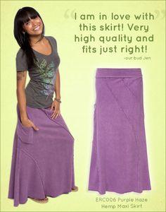 Purple Haze Hemp Maxi Skirt