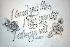 Harry Potter Quote - Request by KrisHanson on DeviantArt Tattoo Lettering Fonts, Graffiti Lettering, Hand Lettering, Chicano Art Tattoos, Chicano Drawings, Rose Drawing Tattoo, Tattoo Design Drawings, Tattoo Set, Letras Tattoo