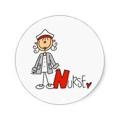 Shop N is for Nurse Classic Round Sticker created by stick_figures. Nurse Drawing, Nurses Week Quotes, Stick Figure Drawing, Inspirational Rocks, Nurse Art, Hand Painted Rocks, Stick Figures, Animal Cards, Rock Crafts
