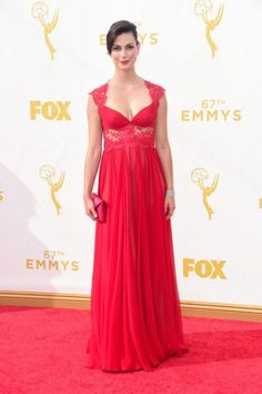 Morena Baccarin vestindo Reem Acra, Emmy Awards 2015