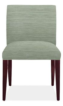 $299 Marie Side Chair (7 fabric options at this price) Leg Finish: cognac-stained Dimensions: 21w 25d 34h Seat Height: 21h