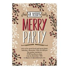 34 best christmas party invitations images on pinterest christmas
