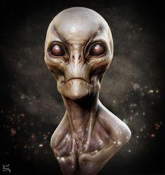 Aris Kolokontes Fan Art #2 - Alien Creature Design Doodle, Kenny Carmody on ArtStation at https://www.artstation.com/artwork/P6DQy