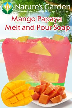 Free Mango Papaya Melt & Pour Soap Recipe by Natures Garden.
