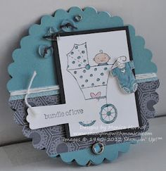 Monica Hornoff's cute telescoping baby card.  Also like the colours with Twitterpated DSP.