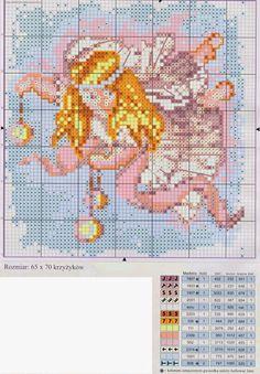 schema punto croce angeli 2   Hobby lavori femminili - ricamo - uncinetto - maglia