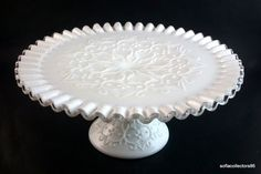 "Fenton Silver Crest Spanish Lace 11"" Pedestal Cake Stand (#3510 SC)"