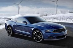 #Ford #Mustang in blue