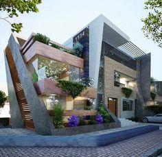 Arquitectura, moderno, contemporáneo, textura, volumen, forma
