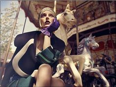 Chic Carousel Flapper Photography : Auguste Abeliunaite Vogue Portugal