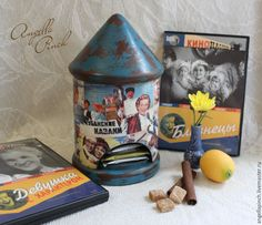 """Купить """"Старое доброе кино"""" - домик для чая - разноцветный, чайный домик, домик для чая, афиша"""