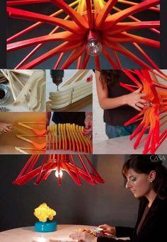 Clothes Hangers Lamp by Erika Karpuk