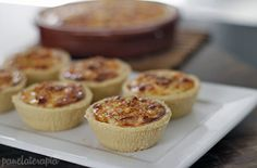 PANELATERAPIA - Blog de Culinária, Gastronomia e Receitas: Tortinhas Cremosas de Presunto e Milho