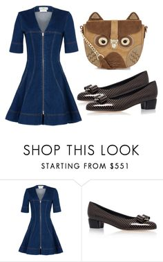 """Untitled #3358"" by evalentina92 ❤ liked on Polyvore featuring STELLA McCARTNEY, Salvatore Ferragamo and Accessorize"