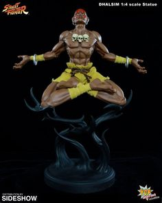 Pop Culture Shock Street Fighter Dhalsim 1 4 Scale Statue, , by Pop Culture Shock, Pop Culture Shock Street Fighter Dhalsim Quarter Scale Mixed Media Statue. Pop Culture Shock Collectibles is issuing Dhalsim as the next Street Fighter 1 mixed m. Street Fighter 1, Capcom Street Fighter, Street Fighter Characters, Pop Culture Shock, O Pokemon, Cool Animations, Human Art, Game Character, Poses