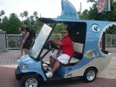 A cool Margaritaville shark golf cart, not sure exactly what its purpose is, but its neat. Custom Golf Carts, Golf Score, Golf Lessons, Golf Humor, Play Golf, My Ride, Ladies Golf, Golf Tips, Golf Courses