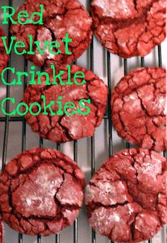 ... Red Velvet Crinkle Cookies, Red Velvet Crinkles and Crinkle Cookies