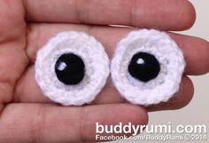 Baby safe crochet eyes