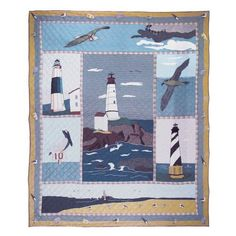 Patch Magic Queen Lighthouse By Bay Duvet Cover, 88-Inch by 98-Inch by Patch Magic. $236.00. Matching Accessories available. Duvet Cover Queen 88-inch by 98-inch. 100% Cotton. 100-Percent Cotton, Handmade, Hand quilted. For the quiet security of a lighhouse reach this bay