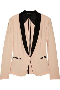 silver tuxedo cotton blend blazer ++ rag