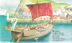 a Roman merchant ship entering port