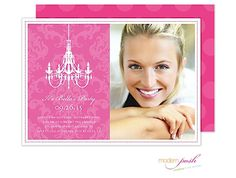 Chandelier Party Digital Photo Invitation