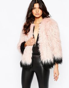 Image 1 ofRiver Island Premium Mongolian Faux Fur Coat