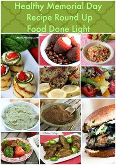 Healthy Memorial Day Recipe Round Up www.fooddonelight.com