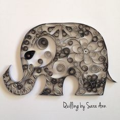Quilling by Sara Ann - paper quilling elephant. I just fell in love with this little fellow. Could be done in pastel colours for children.